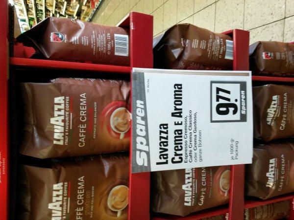 [Edeka Siegen] Lavazza, drei Sorten, 1kg ganze Bohnen für je 9,77€