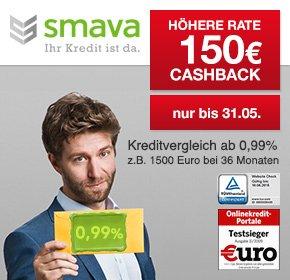 1000 € bei Smava für 12 Monate leihen  (Gesamtkosten 1068€) und 150€ von Qipu bekommen