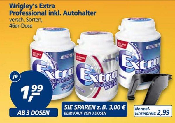 [real,-] Wrigleys Extra Dosen inkl. Gratis Autohalterung: ab 3 Dosen je 1,99 €