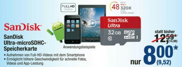 Sandisk Ultra 32GB Micro-SD-Karte für 9,52€ @Metro ab 07.05.
