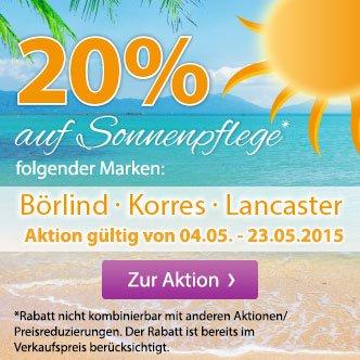 [Müller] 20% Rabatt auf Sonnenpflege von Lancaster