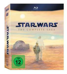Star Wars: The Complete Saga I-VI [Blu-ray]  für 64,99€ @Amazon.de