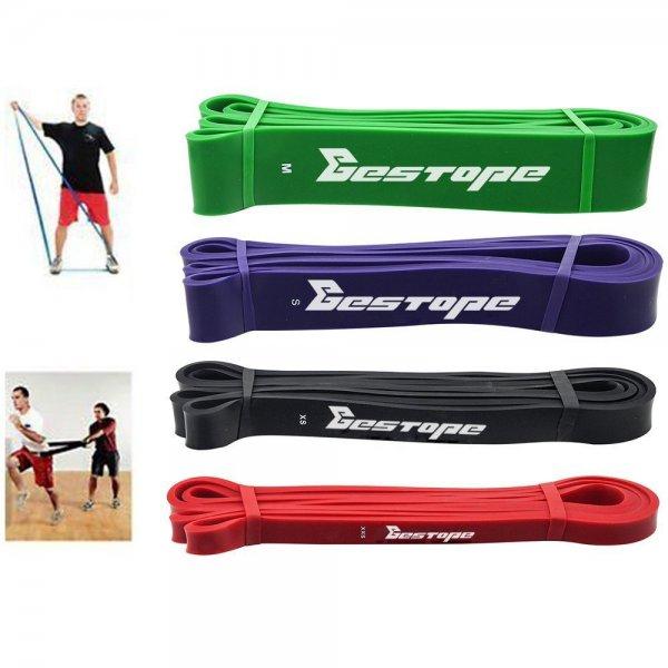 [Amazon] Bestope Klimmzugbänder / Fitnessbänder - Set mit Bändern in 4 Stärken für 47,99€