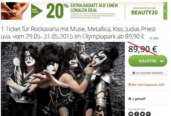 [GROUPON] Tagesticket für Rockavaria 2015 für 71,92€ bzw. 3-Tages-Ticket für 179€