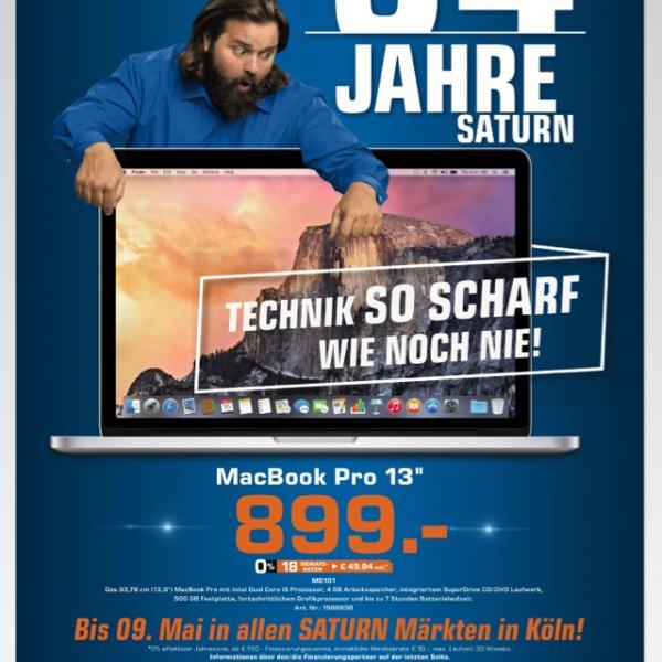 """[Saturn Köln] MacBook Pro 13"""" i5 4gb RAM 500gb Festplatte"""