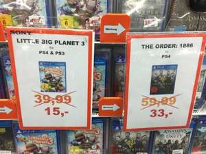 Lokal Saturn Tübingen Little Big Planet 3 PS3/4 15€ & The Order 1886 PS4 33€