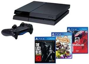 Amazon.de - PlayStation 4 - Konsole inkl. DriveClub, Little Big Planet 3 und The Last of Us: Remastered