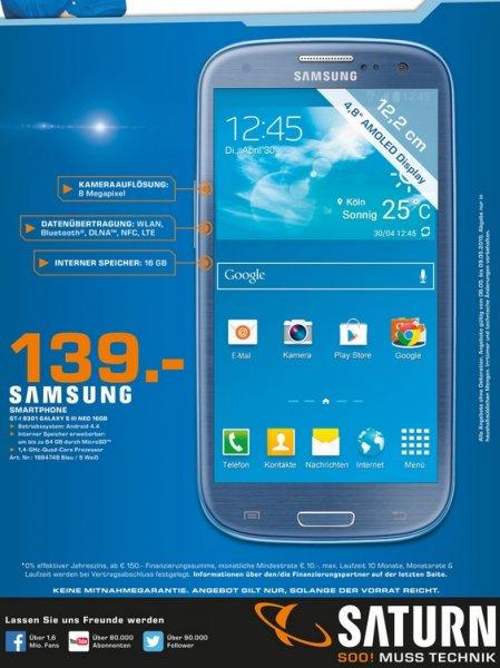[LOKAL Stuttgart Saturn] Samsung Galaxy S3 Neo für 139€