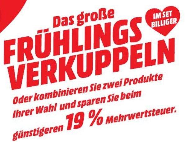 [Media Markt bundesweit & online] Zwei Artikel kaufen, auf den günstigeren 19% (Mehrwertsteuer!?) sparen