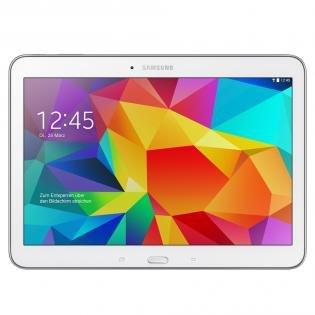 Samsung GALAXY Tab 4 10.1 WiFi white BUNDLE (+ BT-Tastatur + 32GB MicroSDHC Bundle)  @ REDCOON.de   € 249,-- (Klarna 239,--)