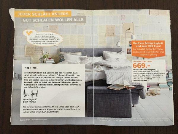 IKEA - 200€ Rabatt auf alle Boxspringbetten (für IKEA Family Kunden)