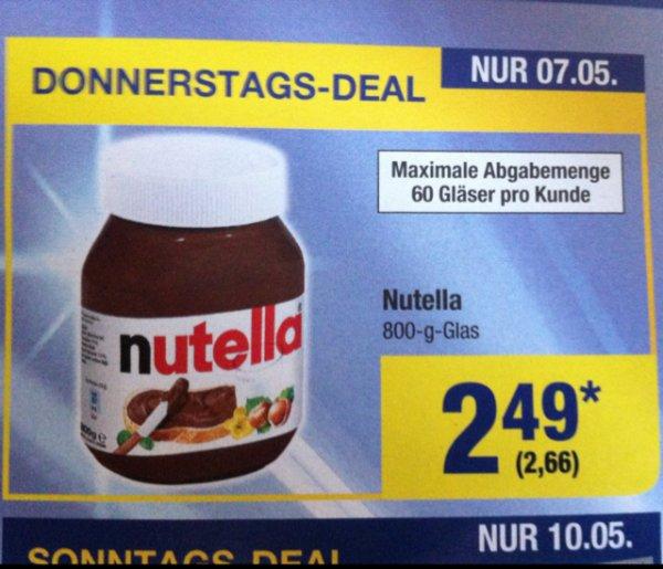 Nutella 800g nur am 07.05