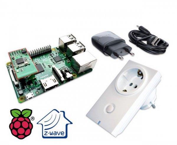 Raspberry Pi 2 + Z-Wave Modul + Steckdose + Smart Home Bundle