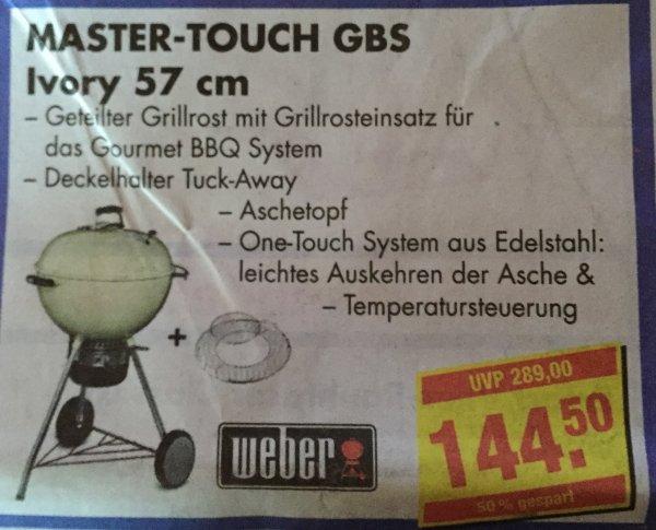 [Lokal Mobau Braun in Hofheim] Weber Grill Master-Touch GBS, 57 cm, Ivory.  144,50 € (ggf. bundsweite Schnäppchen dank Tiefpreisgarantie möglich)