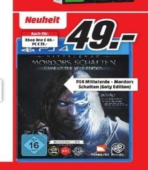 (LOKAL) Mittelerde: Mordors Schatten GOTY Edition: PC 35,- Konsole 49,- @MediaMarkt Hamburg & Umgebung