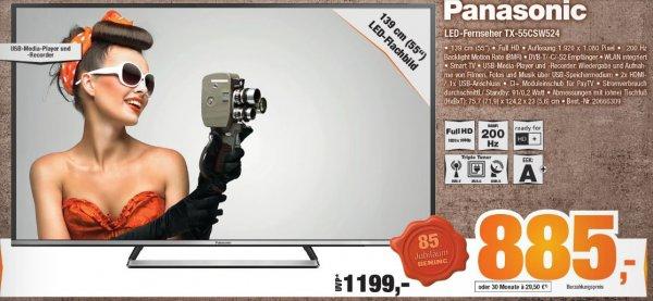 "[Expert Bening] Panasonic LED-Fernseher TX-55CSW524 für 885 € 55"""