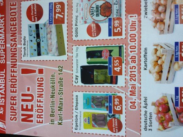 Berlin Supermarkt Eröffnung Nudeln 0,29€ 5kg Zwiebeln 0,55€