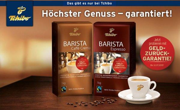 [Tchibo] 2 kg Kaffebohnen gratis ( mit Geld zurück Aktion)