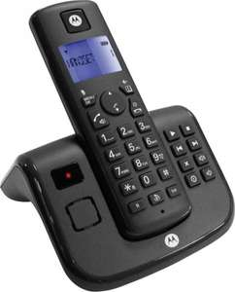 Motorola T211 Schnurloses Telefon analog mit Anrufbeantworter in Schwarz für 17,99€ @digitalo