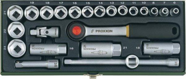 """@smdv.de - Proxxon Steckschlüsselsatz 23110 3/8"""" 24 teilig in stabiler Stahlbox für 26,00€ // wieder da"""