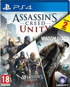 [PS4]  Assassin's Creed: Unity & Watch Dogs Double Pack @ Game.co.uk