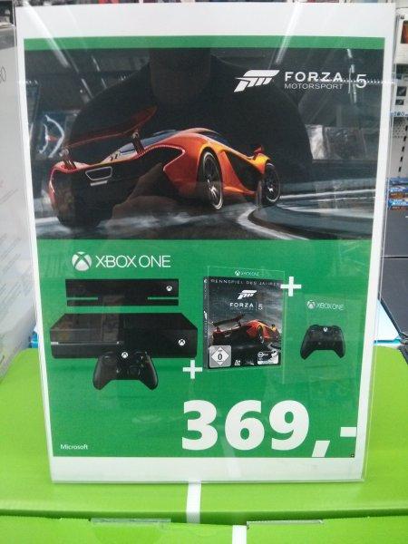 Lokal? Saturn München OEZ Xbox One inkl. Kinect plus Forza 5 plus zweiten Controller für 369 Euro