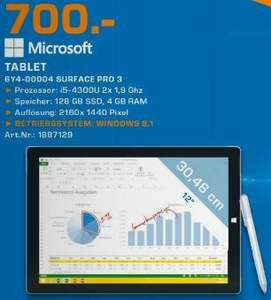 [Lokal] Surface Pro 3 i5 128GB - Saturn Lüdenscheid - 700€