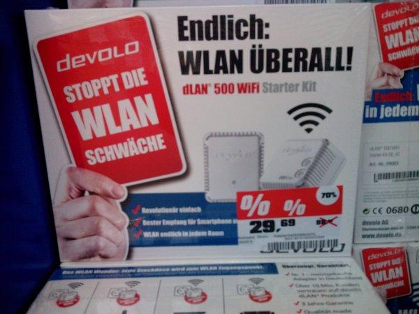 OBI Offenburg: Devolo Dlan 500 Wifi Starter Kit