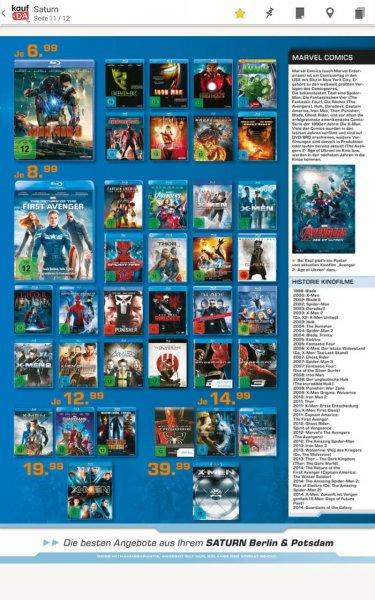 Saturn - Berlin & Potsdam  / Blurays ab 6,99 z.b. Hulk , Iron Man, Captain America  uvm.