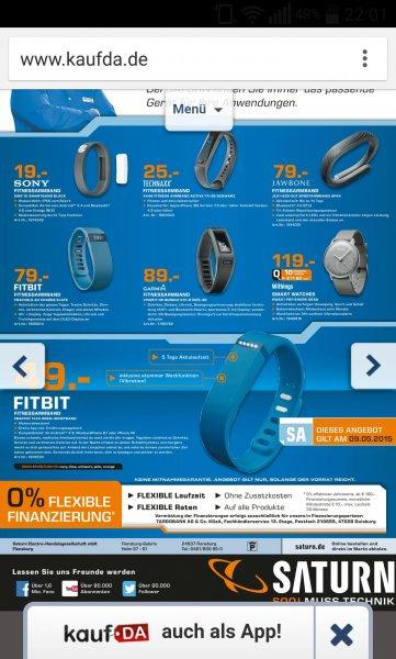 [lokal Saturn Flensburg] Fitbit flex Tagesangebot am 9.5. Für 49€