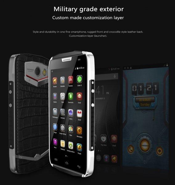 Original Doogee Titan 2 DG7000 Action Smartphone Android 5.0 Quad Core IP67 Wasserdicht 4000mAh DUAL SIM @Aliexpress