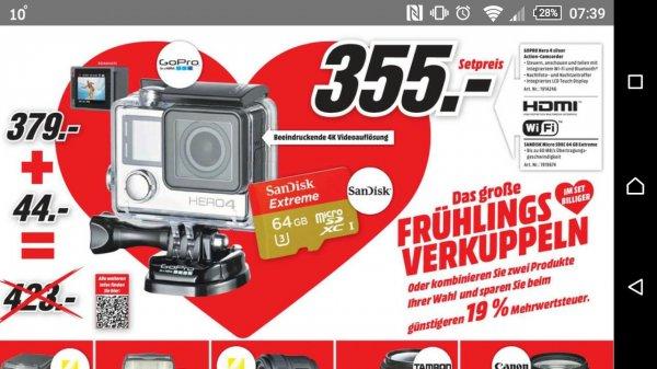 [Lokal] MM München Go Pro 4 Silver inkl. 64 GB Sandisk
