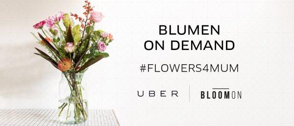 Kostenlose Blumen in Düsseldorf zum Muttertag @Uber