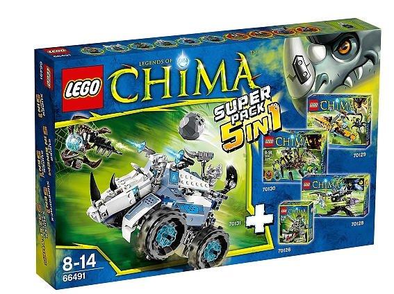 Lego Chima 5 in 1 Set (Inhalt 70126 / 70128 / 70129 / 70130 / 70131) bei Toysrus für 59,98€ (versandkostenfrei)