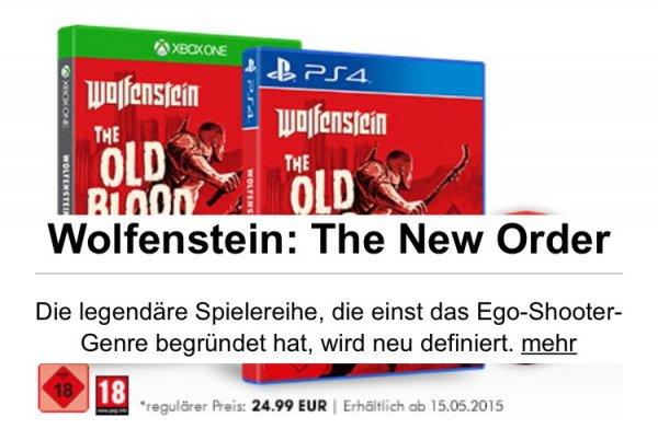 [Gamestop] Wolfenstein Old Blood für ein Game der Eintauschliste