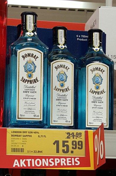 [Lokal Bonn] Bombay Sapphire Gin für 15,99 @REWE Center in Pützchen