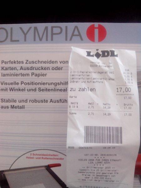 [Lokal Kolbermoor] [LIDL] Olympia 2-in-1-Papierschneidegerät Vario Duplex 4600