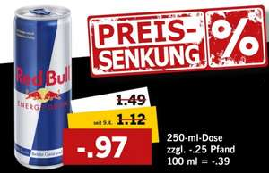 [Lidl Preissenkung]Red Bull Energy Drink 250ml ab 08.05. 0,97€ + Pfand