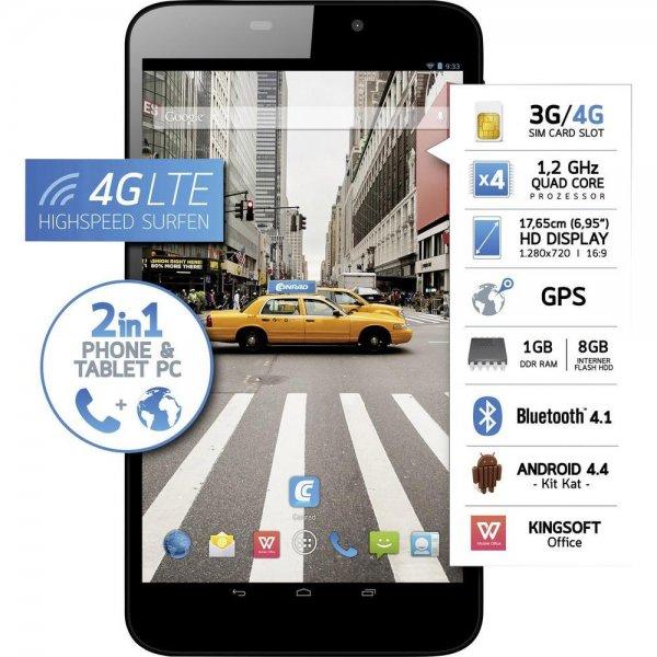 "Odys Xelio Phonetab 3 - 6.95"" HD Display, 1 GB Ram, Snapdragon 410 (4 x 1.2 GHz), GPS, Android™ 4.4, OTG-fähig, Telefonfunktion ab 117€ @Conrad"