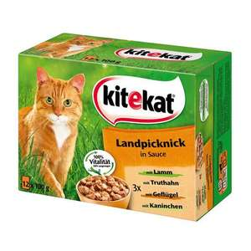 [fressnapf.de]Katzenfutter Kitekat Multipack Landpicknick in Soße (1,86€/kg)