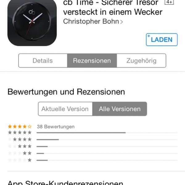Cb Time - Sicherer Tresor versteckt in einem Wecker [iOS]