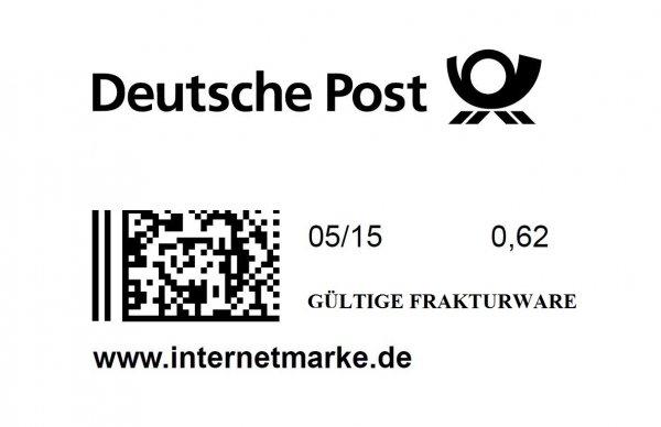 2x 62 Cent Briefmarken für Euro [EBAY]