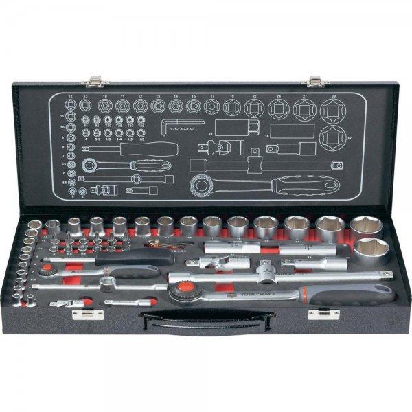 """[Conrad.de] TOOLCRAFT Steckschlüsselsatz 6,3 mm und 12,5 mm (1/4"""" und 1/2"""") 55tlg."""