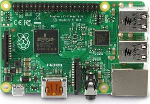 Raspberry Pi 2 Model B QuadCore 1GB Ram für 35,50€ [Update: 37,49€]