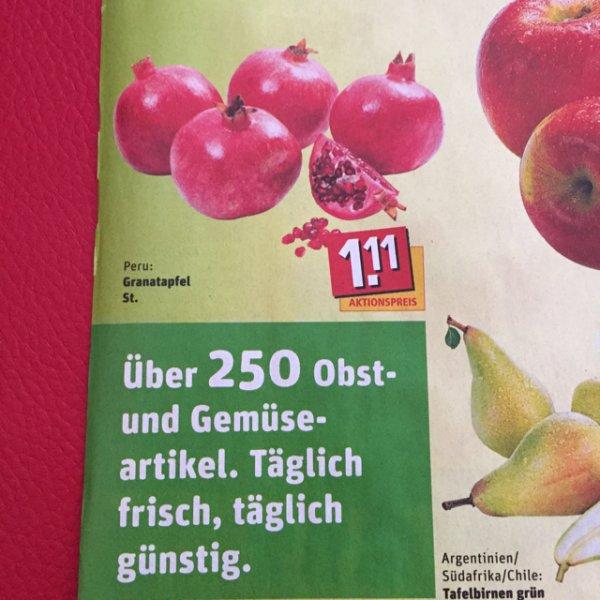 Granatäpfel ab 11.05.15 bei Rewe 1,11€