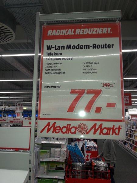 [Lokal: MM Düsseldorf] Telekom Speedport W724V WLAN-Router