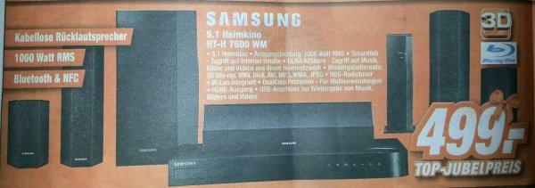 [Expert Technikmärkte] Samsung 3D Blu Ray 5.1 Heimkino HT-H 7500 WM