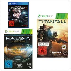 [saturn.de] Metall Gear Solid - Ground Zeroes PS4 / Titanfall Xbox360 / Halo 4 - Game of the Year Edition Xbox360 für je 9,99€