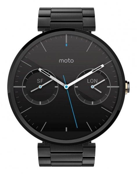 Motorola Moto 360 mit EDELSTAHLBAND in schwarz (amazon.fr / Kreditkarte notwendig)