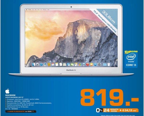 """[Saturn Bochum Kortumstr.] MacBook Air 13"""" 819€ (0% Finanzierung möglich)"""